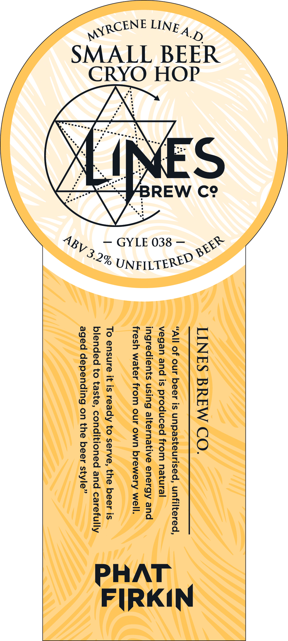new beer release 'small beer cryo hop' (phat firkin ltd cask how much is a firkin new beer release 'small beer cryo hop' (phat firkin ltd cask series) lines brew co